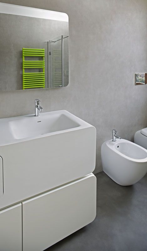 colorful details - bathroom trends #concrete #microtopping http://www.idealwork.com/Micro-Topping-Features-and-benefits.html
