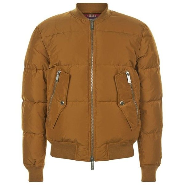 DSquared2 Padded Bomber Jacket ($1,025) ❤ liked on Polyvore featuring men's fashion, men's clothing, men's outerwear, men's jackets, mens padded bomber jacket, mens padded jacket and mens bomber jacket