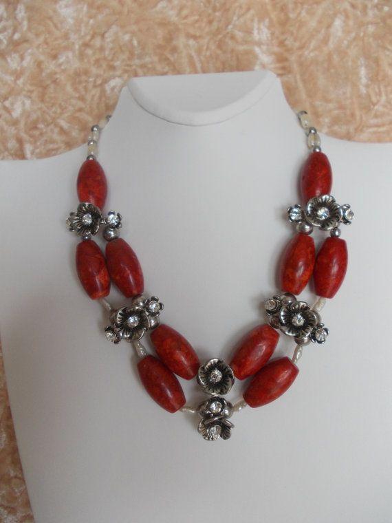 Ожерелье Коралловое ожерелье Красный ожерелье натуральный Коралл по Monpasier