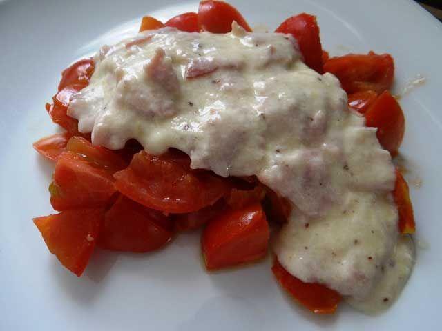 Helle Käse Soße mit Schinken   Low Carb Rezepte