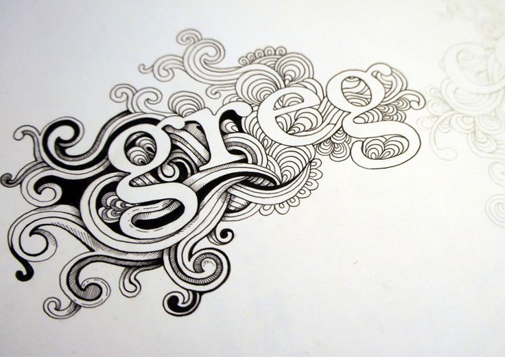 Beginning stage of inspiring, beautiful illustrated type by Greg Coulton...
