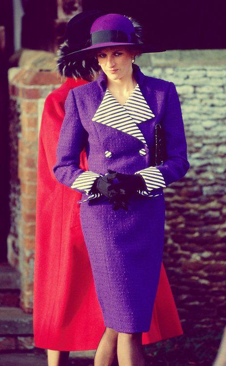 Princess Diana Spencer in Royal Purple