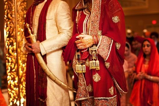 Sikh Couple taking Vows