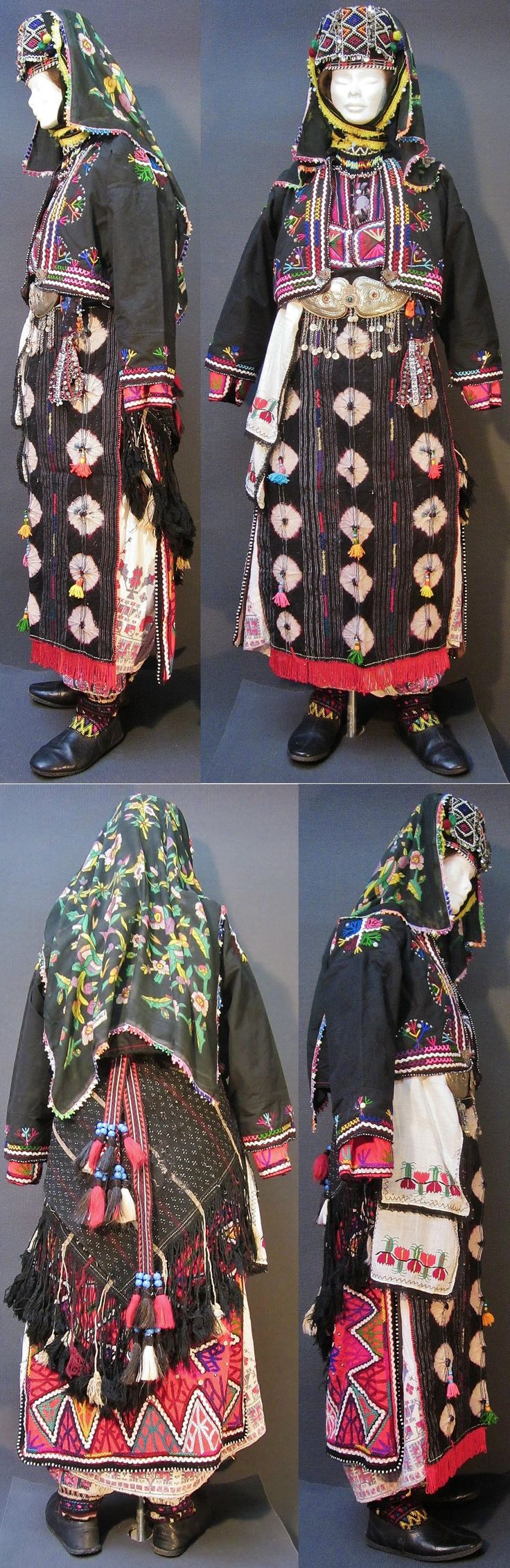 A traditional festive costume from the Karakeçeli (Yörük) villages of the Keles district (south of Bursa).  Ca. 1950-1985.  (Kavak Costume Collection - Antwerpen/Belgium).