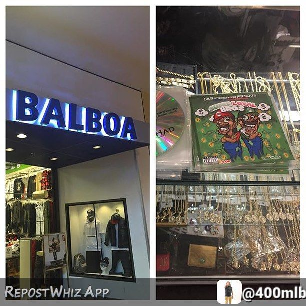 By @400mlb via @RepostWhiz app: 1 time for Balboa in Stonecrest Mall Georgia for acknowledging my hustle and putting CDs in the store..... Stop by shop and grab your copy of that Super Loyal Bros..... Available for free download on Spinrilla & Livemixtapes #weSTILLworking (#RepostWhiz app) by mlb_ent