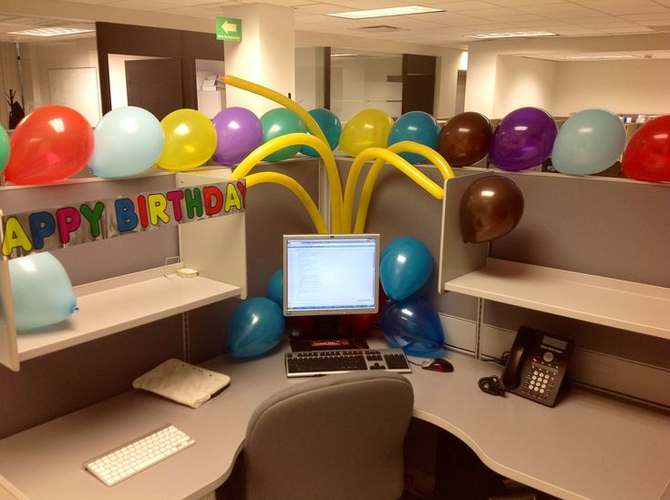 design ideas grey swivelchair l shaped workbench baloon themes ideas for celebrating in modern office