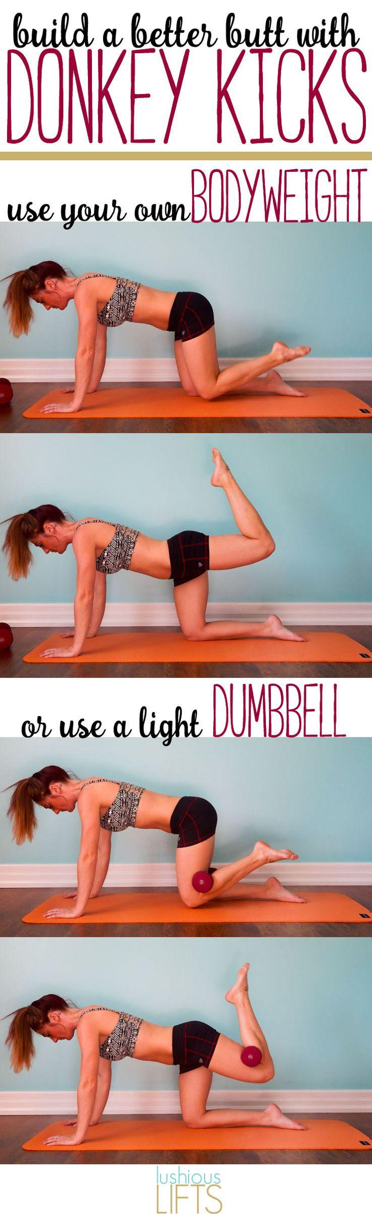 Build a Better Butt with Donkey Kicks || lushiouslifts.com