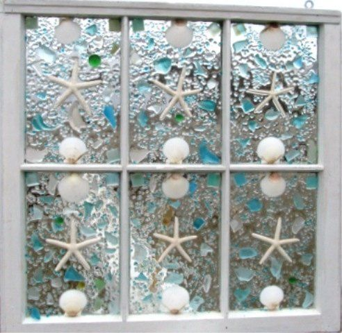 Bathroom Window Diy Sea Glass Crafts Sea Glass