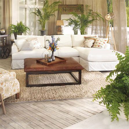 Arhaus Emory 134 Two Piece Slipcovered Sectional In Deso Snow Forbes Pinterest