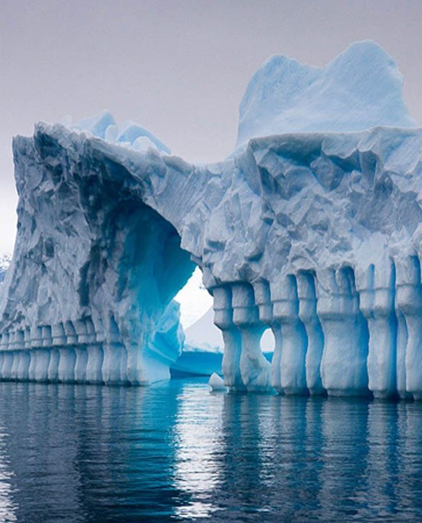 Absolutely Stunning Iceberg, Antarctica  (although disappearing at an equally stunning--and scary--rate, sadly.)