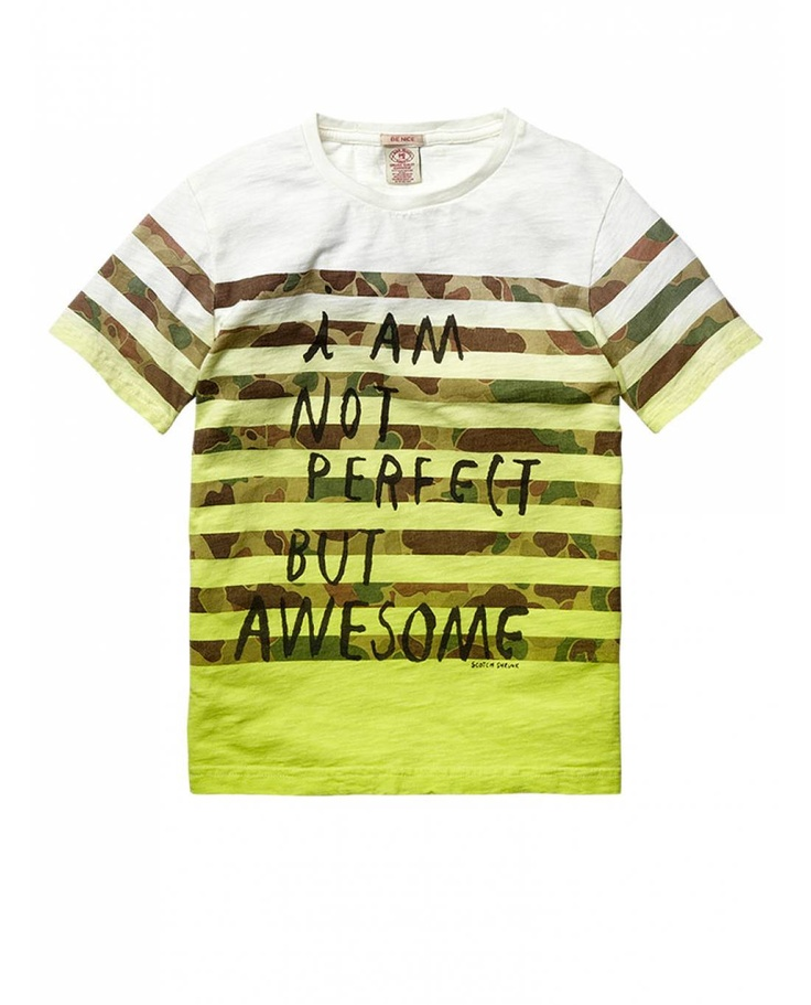 Colourful text tee - T-shirts - Official Scotch & Soda Online Fashion & Apparel Shops