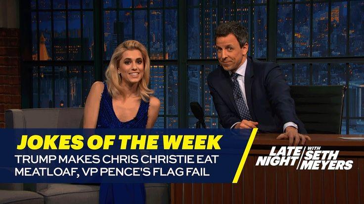 Seth's Favorite Jokes of the Week: Trump Makes Chris Christie Eat Meatlo...