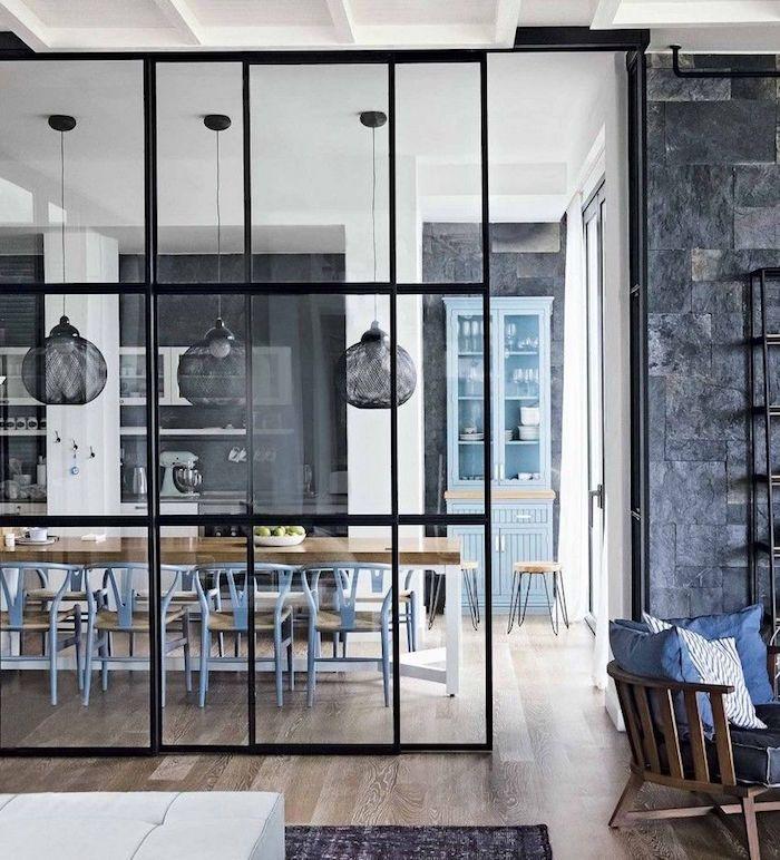Séparation cuisine salon – coulissez une porte ouverte ...