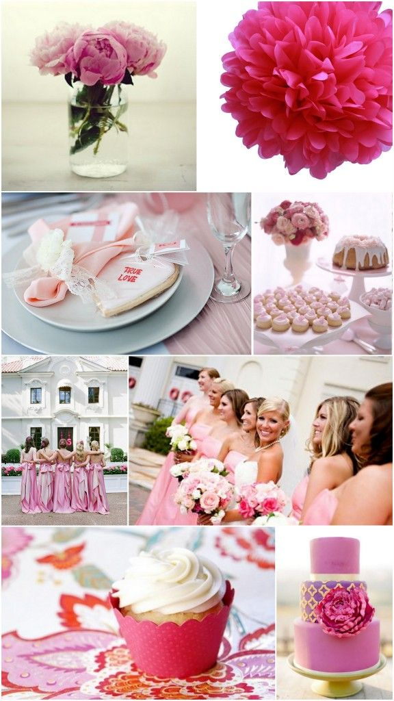 Beautiful #Spring Time Trend: Pink #Wedding Themes