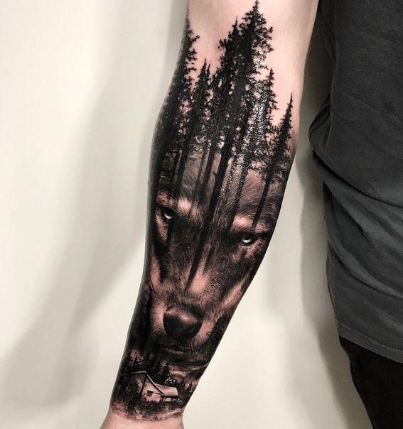 Topovye Tatuirovki Wolf Tattoo Sleeve Animal Sleeve Tattoo Nature Tattoo Sleeve