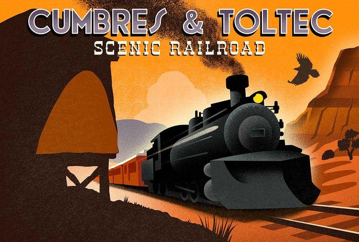 #michaelcrampton #meiklejohn #illustration #digital #stylised #retro #vintage #train #transport #railway
