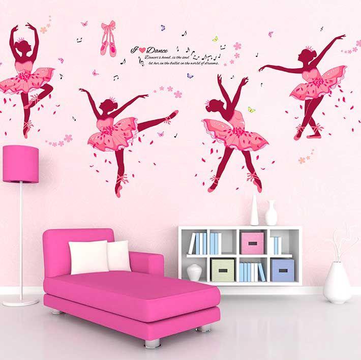 De la bailarina de ballet so ando vinilo etiqueta de la for Wallpaper sala de estar