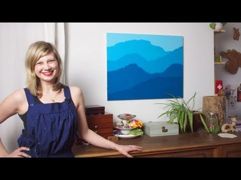 Color Block Mountain Painting