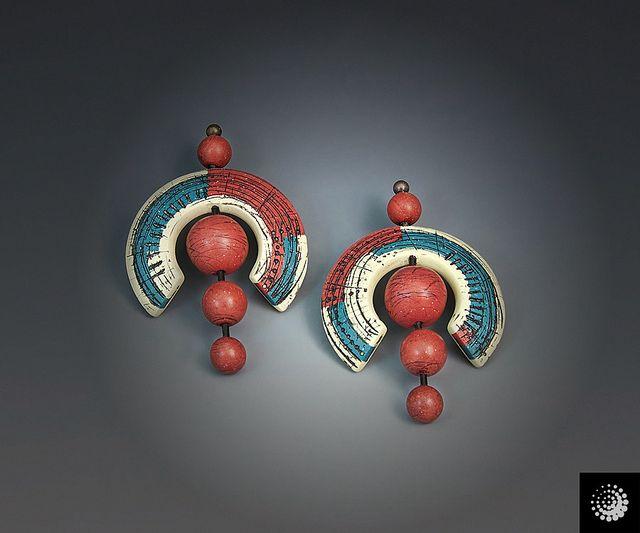 Sgraffito Earrings by Bettina Welker