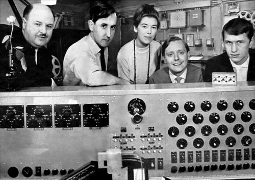Delia Derbyshire and BBC radiophonic workshop crew