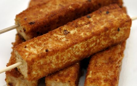 Grilled tofu on a stick!