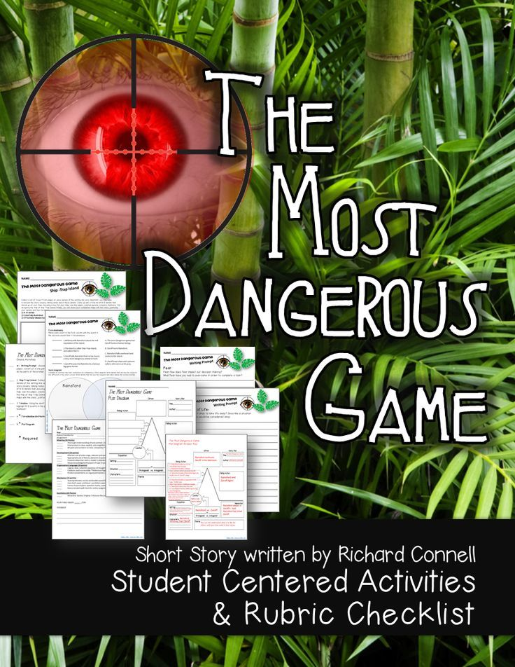 The Most Dangerous Game Activities And Rubric Checklist Student  The Most Dangerous Game Activities And Rubric Checklist Student Centered   Teaching  Rubrics Student Dangerous Games