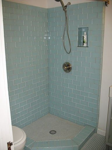 26 Best Sea Glass And Subway Tile Bathrooms Images On