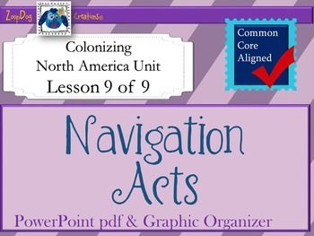 This engaging and visually appealing 19-slide pdf presentation is an excellent way to introduce your students to the Navigation Acts. With easy to understand content illustrated with charts and pictures, even your most visual learners will be impressed!