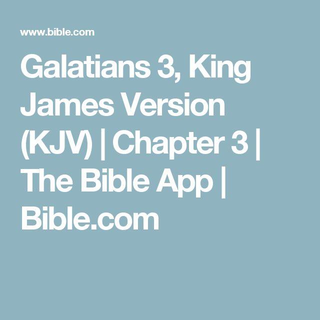 Galatians 3, King James Version (KJV)   Chapter 3   The Bible App   Bible.com