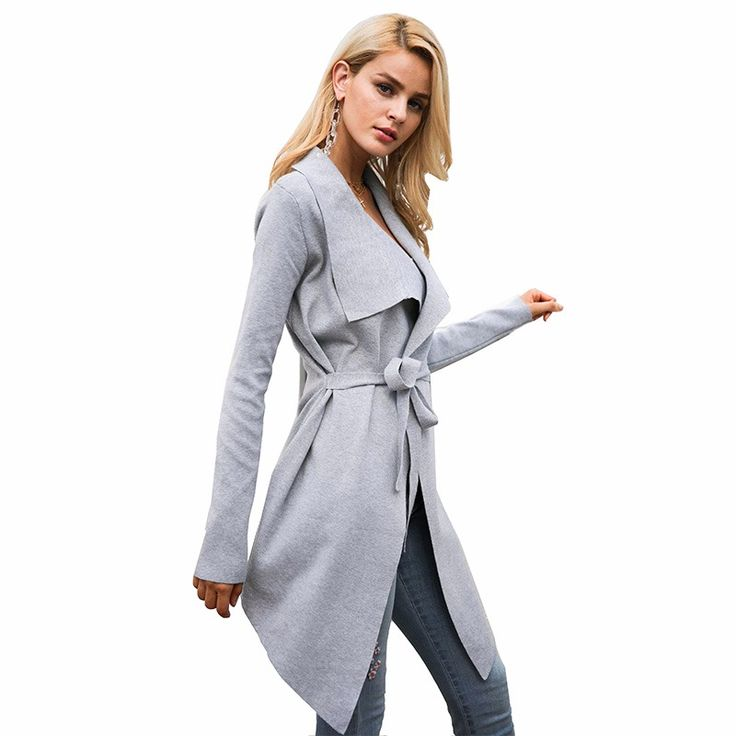 Simplee Eelastic knitting long cardigan women Winter sweater sash Knitted cardigan female Soft casual sweater coat pull jumper