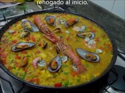 Receta de Paella de marisco paso a paso tutorial - YouTube