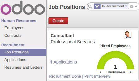 Odoo app for recruitment
