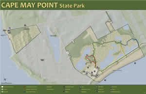 Cape May Point Area Map