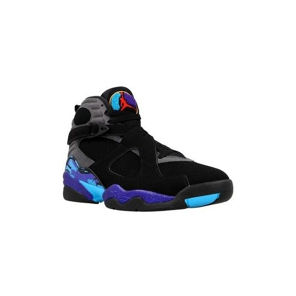 Nike Air Jordan 8 Retro Basketball Trainers (Shoes) ($270) ❤ liked on Polyvore featuring men's fashion, men's shoes, men's sneakers, basketball shoes, blue, men, shoes, mens shoes, mens blue shoes and nike mens sneakers