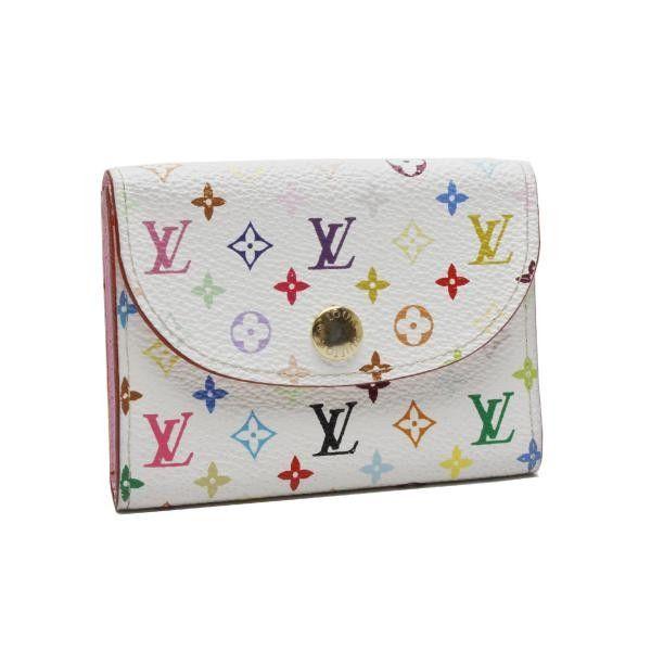 Louis Vuitton Enveloppe Carte De Visite Monogram Multicolor Wallets White Canvas M66560