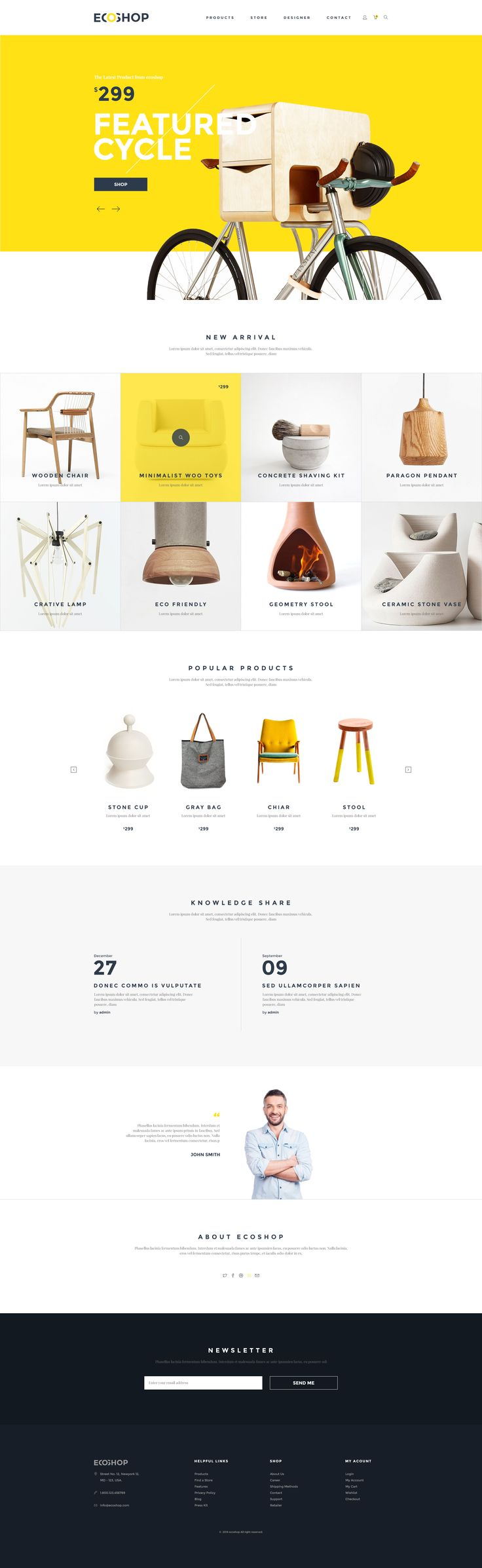 ECOSHOP is high quality eCommerce PSD Templates which designed for commercial use like clothes, cosmetics, furniture, gadgets, shoes, bags, home decore etc. A ready psd template to make a various online shop. Templates consists of 23 layer psd file. All layers are well organized and you can easily change its color, shapes etc.