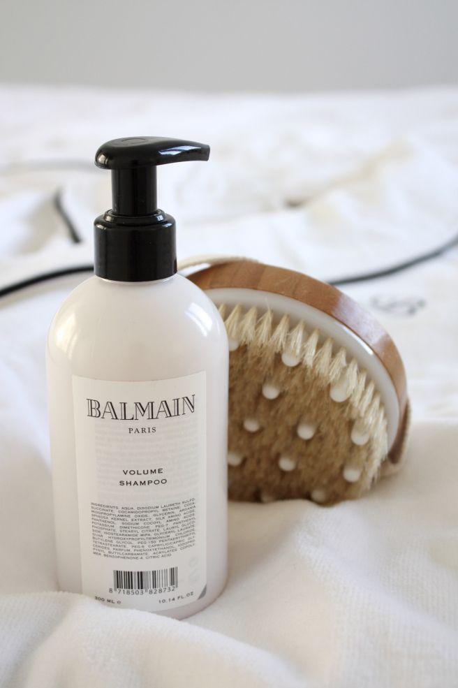 Homevialaura   Home spa   Balmuir Portofino Robe   Balmain Hair Shampoo   Mio Cosmetics