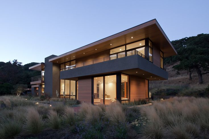 Stunning Modern House decorating ideas for Ravishing Exterior Modern design ideas with balcony desert landscape flat roof horizontal lines large overhang metal railing minimalism
