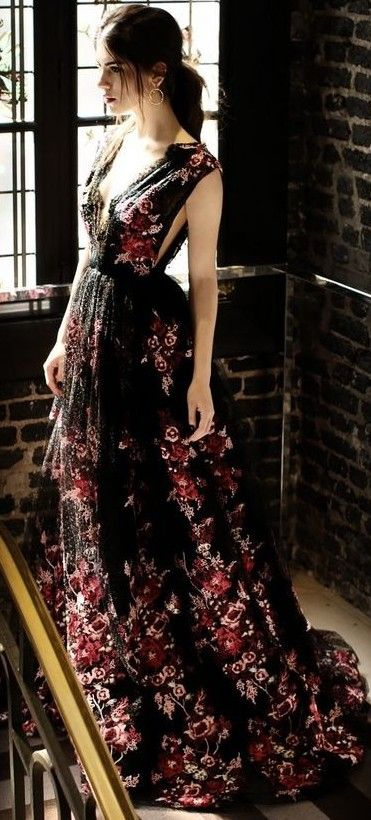 Princess Like Floral Lace Gown                                                                             Source