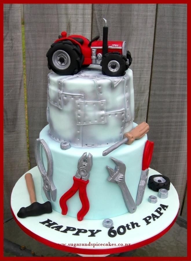 Tractor Mechanic - Cake by Mel_SugarandSpiceCakes