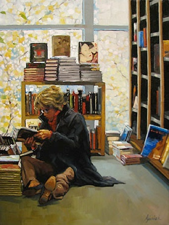 Floored ~ by Karin Jurick (This is me in a book store).