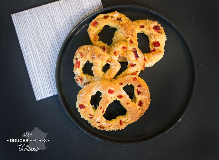 Recette de bretzel apéritif : Noeud brioché salé version ail et poivron rouge !