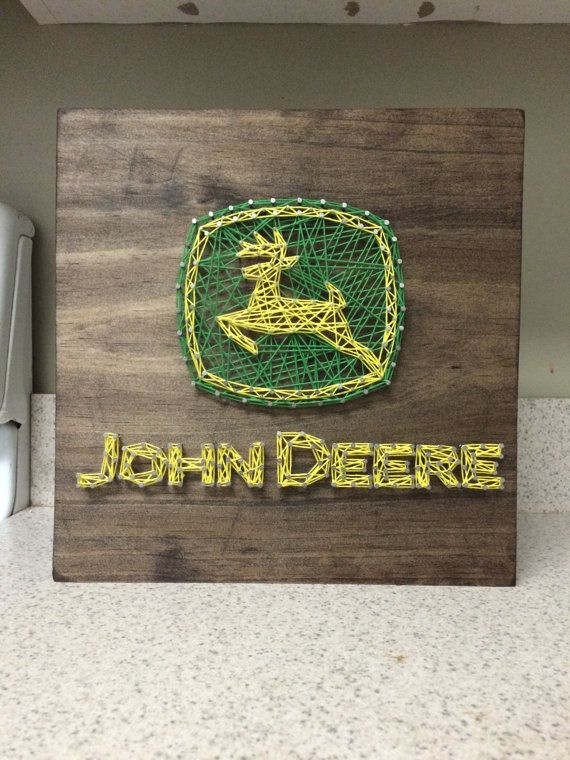 MADE TO ORDER John Deere String Art Sign by CuseyCustomCrafts