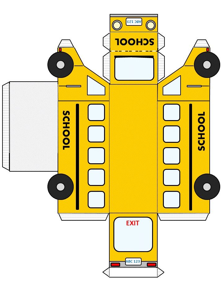 School Bus Template From http://www.dltk-kids.com