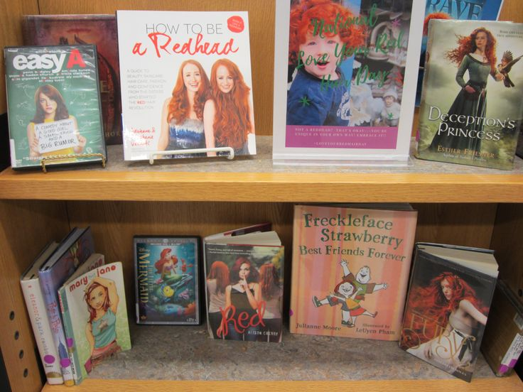 National Redhead Day book display!