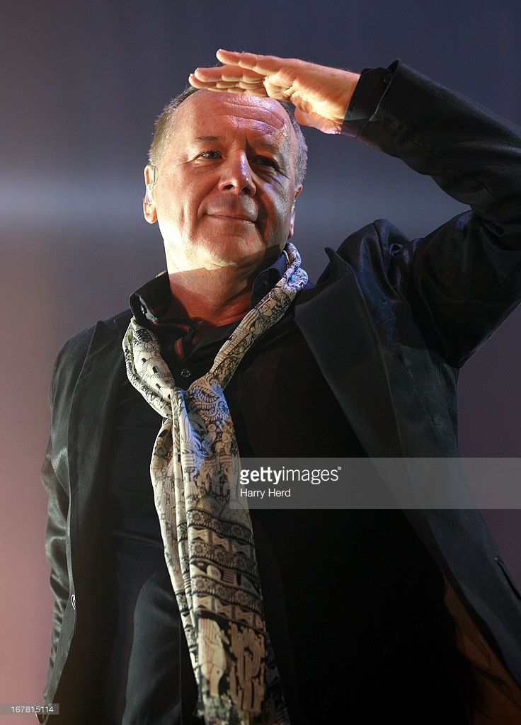 Jim Kerr of Simple Minds performs at Portsmouth Guildhall on April 30, 2013 in Portsmouth, England.
