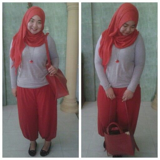 aladin pants, t shirt, n red necklace make my day brigthen