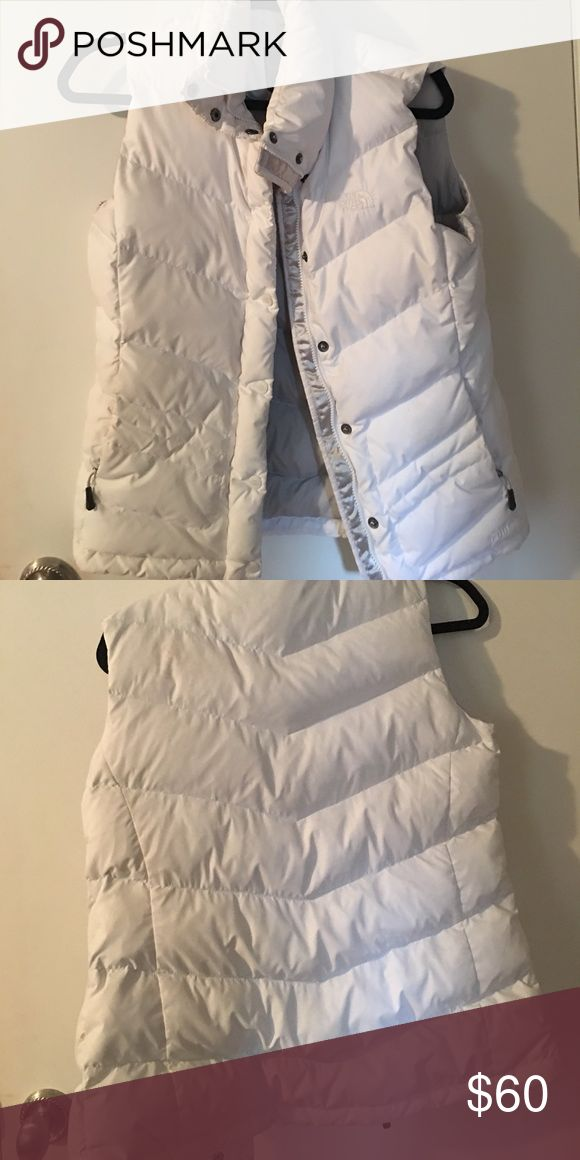 White north face vest Medium white north face vest North Face Jackets & Coats Vests