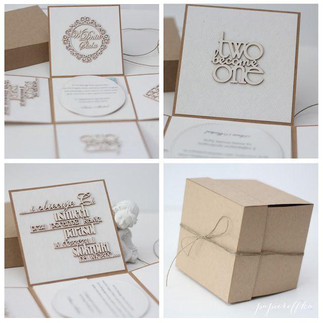 papieroffka rustykalne puełko exploding box ślub rustic