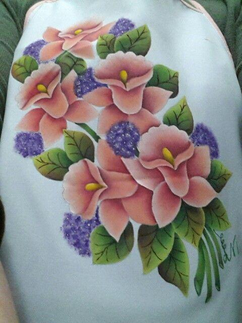 17 mejores im genes sobre pintura en tela delantales en - Pintura en tela motivos navidenos ...